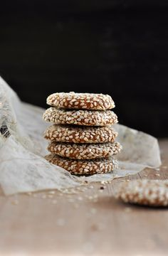 vanilla sesame cookies w/ rosewater • anja's food 4 thought
