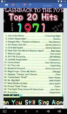 70s Music, Music Mix, Sound Of Music, Kinds Of Music, Rock Music, Pop Charts, Music Charts, My Childhood Memories, Best Memories