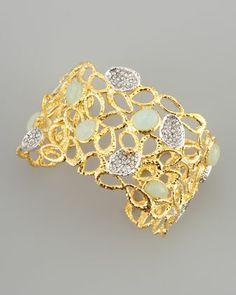 Siyabona Petal Cuff Bracelet, Golden by Alexis Bittar at Neiman Marcus.