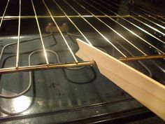 Tool Time Tuesday...Oven Rack Gadget make it your self from a paint stick or an old ruler would be just as good probably have one of those laying around