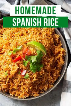 Spanish Rice is a quick and easy side dish that pairs well with all your Mexican inspired dishes. Made on the stove top or instant pot! #spanishrice #easysidedish Cold Side Dishes, Side Dishes Easy, Vegetable Side Dishes, Side Dish Recipes, Lunch Recipes, Summer Recipes, Mexican Food Recipes, Healthy Recipes, Healthy Meals