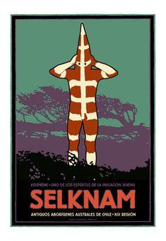 Póster Selknam   por Ilustrador JotaLillo / Selknam poster by JotaLillo Ilustrator