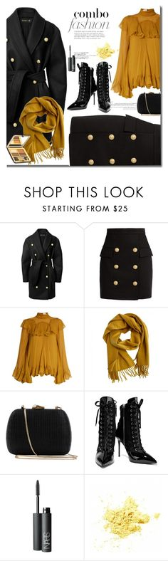 """""""Let's go places"""" by mslewis6 ❤ liked on Polyvore featuring Balmain, Chloé, Hermès, Serpui, Giuseppe Zanotti and NARS Cosmetics"""