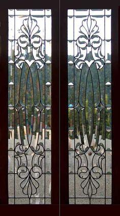 Victorian antique beveled glass windows
