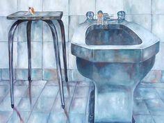 Le Bidet partie intégrante de l'habitat - Interprétation/Signification de rêves - tableau ©Cluca Bidet, Retaining Walls, Sink, Vase, Home Decor, Dream Interpretation, Board, House, Vessel Sink