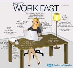 love this infographic. notice her 'pear' laptop?Let Go, Keep it Simple, Move Quickly: Secrets to Being a Productive Entrepreneur (Infographic) Neuer Job, Improve Productivity, Workplace Productivity, Keep It Simple, Simple Things, Career Advice, Business Advice, Business Notes, Study Tips
