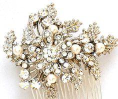 Bridal comb,Bridal  Hair comb,wedding comb,bridal pearl hair comb,wedding hair comb , bridal head piece,Swarovski pearl