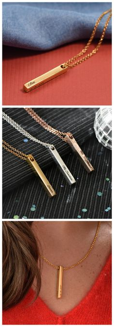 Explore the Pillar Bar Necklace - Gold Plated from Oak & Luna. Fashion jewelry created from fine metals, made exclusively for you. Gold Bar Necklace, Name Necklace, Arrow Necklace, Fashion Earrings, Fashion Jewelry, Parfait, Feather Earrings, Mask Design, Plating