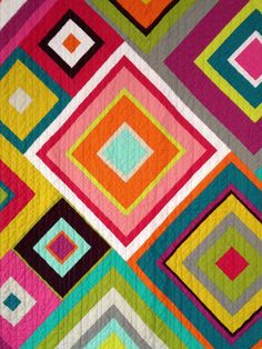 squares and solids quilt