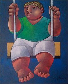 Boy on a Swing by Osvaldo Ribeiro
