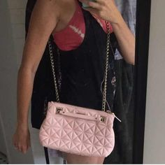 Kate Spade Pink Crossbody Purse Kate Spade Pink leather  Crossbody/Shoulder Purse-wear either way to look elegant & practical! Inside zipper pocket & 2 open pockets with 2 outside zipper compartments -lots of room for cellphone, keys, brushes -Excellent condition-no wear no marks -used 3x-original dust bag & Kate Spade Trademark ID card kate spade Bags Crossbody Bags