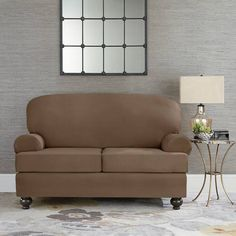 Product Image for Sure Fit® Designer Suede Individual Cushion Love Seat Slipcover 2 out of 2