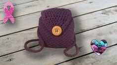 Sac à dos crochet Trapillo facile/ Mochila tejida a crochet Crochet Diy, Crochet Hats, Lidia Crochet Tricot, Mini Mochila, Crochet Backpack, Macrame, Creations, Beanie, Girly