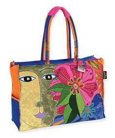 Love this Pink Oversize Blossoming Spirit Tote by Laurel Burch on #zulily! #zulilyfinds