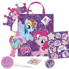 This is our My Little Pony goodybag. All the items you see here come with our Silver, Gold and Platinum package. We do all the set up and clean up- just come in and enjoy! Details here: http://maplewoodfarm.bc.ca/birthday/