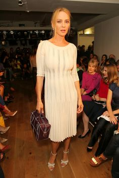 Celebrities at New York Fashion Week 2014 | POPSUGAR Celebrity. Uma Thurman was on hand for the Zac Posen show on Monday.