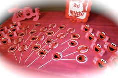 Elmo Birthday Banner in pink orange and red by PurpleZebraPaperCo