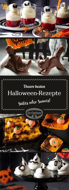 If you want to surprise your disguised guests and are looking for spooky Halloween party recipes, be inspired here - Food Cook Recipes Halloween Cupcakes, Hallowen Party, Dessert Halloween, Halloween Buffet, Hallowen Ideas, Halloween Decorations, Halloween Fingerfood, Healthy Halloween Snacks, Halloween Food For Party