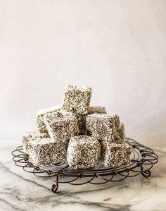 butter and brioche | Dark Mocha and Raspberry Lamingtons | http://www.butterandbrioche.com