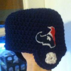 Crocheted Baby Hat - Houston Texan Helmet
