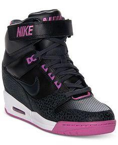 Nike Womens Shoes, Air Revolution Sky Hi Casual Wedge Sneakers - Sneakers - Shoes - Macys