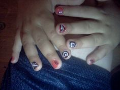 I did one of my friends little girls nails. Precious.