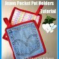 Linked to: jembellish.blogspot.com.au/2012/01/pot-holders-from-jeans-pockets-tutorial.html