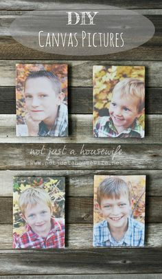 DIY-canvas-pictures -  http://www.notjustahousewife.net/  Author says use Photo or Card Stock setting.   www.oursunnyvilla.com
