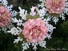 Handmade Paper Flower - Snowflake Ornaments