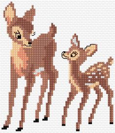 Cross Stitch | Deer 1 xstitch Chart | Design Free pattern
