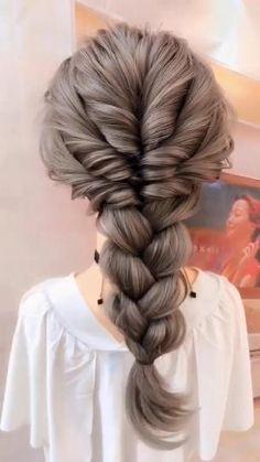 Bun Hairstyles For Long Hair, Girl Hairstyles, Braided Hairstyles, School Hairstyles, Hairstyles Videos, Natural Hairstyles, Quick Work Hairstyles, Hairstyles For Women, Medium Length Hairstyles