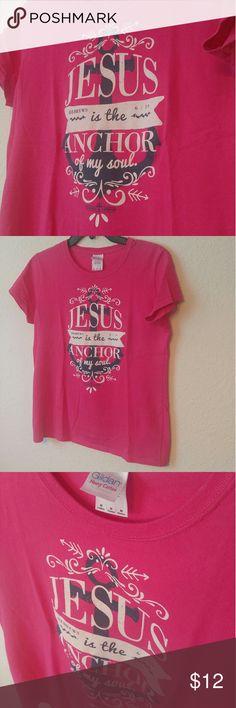 Gildan Light Source Anchor T-Shirt Gildan Heavy Cotton ~ Hebrews 6:19 -Jesus is the Anchor of my soul- ~ Pink, Navy, White 100% Cotton Gildan Tops Tees - Short Sleeve