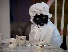 """Pants are still too futuristic for you. 