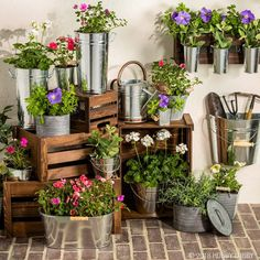 Freshen up your garden for summer with trendy galvanized pieces!
