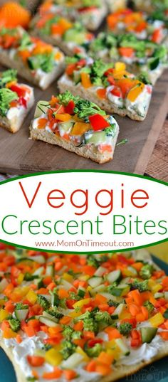 Veggie Crescent Bites are a delightfully light appetizer that everyone will enjoy!  Full of flavor and crunch – these little bites are sure to please!