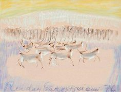 Reidar Särestöniemi, REINDEERS IN A WINTER LANDSCAPE Winter Landscape, Winter Holidays, Finland, Auction, Reindeer, Pictures, Painting, Artists, Google Search