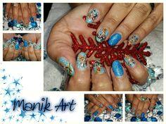 #christmas #noel #blue #reindeer #nails #nailart #original #design Reindeer, Class Ring, Nailart, Ear, The Originals, Rings, Christmas, Blue, Jewelry