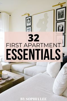 This first apartment checklist has all the essentials you'll need for your first place. Super helpful for anyone moving soon! First Apartment Checklist, First Apartment Essentials, My First Apartment, Apartment Hacks, Apartment Interior, Apartment Living, Most Comfortable Bed, Apartment Decorating On A Budget, Decoration