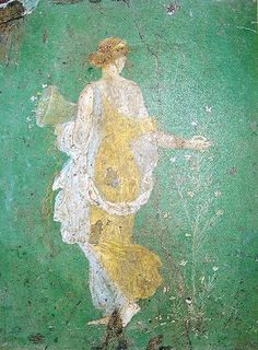 Primavera di Stabiae fresco, ca.1st century AD. One of the most famous paintings of the Roman era. Found at Stabiae | National Archaeological Museum of Naples