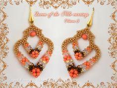 'Queen of the Nile' earrings (Version 1) - designed & created by Antonella Di Spigno (MeiBijoux 2014).  MeiBijoux fan page: https://www.facebook.com/244434058927046/photos/a.654831581220623.1073741835.244434058927046/673489872688127/?type=3&theater