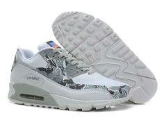 new concept 8c147 5343e Meilleur Nike Air Max 90 Hyperfuse En Ligne Camouflage Gris Blanc Hommes Chaussures  de Hot Sale