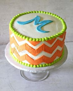 Orange Chevron Cake plus 10 cake tools I can't live without!!