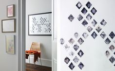 Family Tree by Martha Stewart (instructions here: http://www.marthastewart.com/how-to/precious-diamonds-family-tree#slide_0)