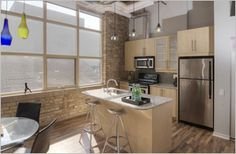 #Tannery #Lofts #Toronto Loft Kitchen, Lofts, Toronto, Kitchens, Furniture, Home Decor, Loft Room, Loft, Decoration Home