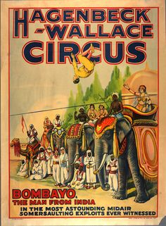 Vintage circus poster, ca. 1909-1920. Source: The New York Public Library digital collections.