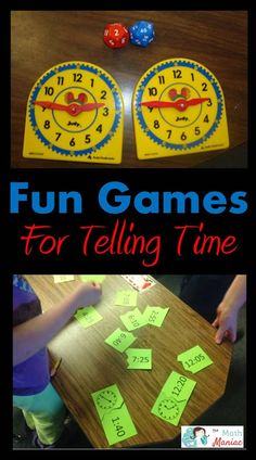 I love teaching kids how to tell time!  Step into my classroom and check out these fun games that help us meet the standards for telling time.