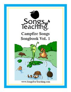 Campfire Songs Vol. Free Printable Songbook and Coloring Book from Songs for Teaching® Daisy Girl Scouts, Girl Scout Troop, Brownie Girl Scouts, Scout Leader, Cub Scouts, Campfire Songs For Kids, Campfire Games, Campfire Stories, Girl Scout Songs