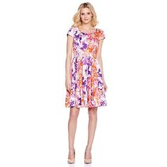 Taylor Abstract Floral Printed Dress