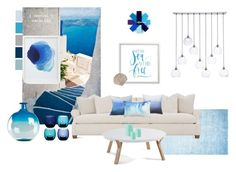 Let the sea set you free by kelschiao on Polyvore featuring interior, interiors, interior design, home, home decor, interior decorating, CB2, Crate and Barrel, LSA International and Normann Copenhagen