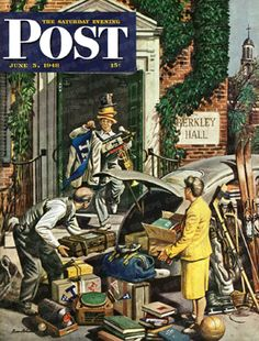 Returning Home From College by Stevan Dohanos, June 5, 1948, The Saturday Evening Post.